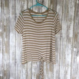 Michael Michael Kors Striped Tie Blouse